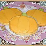 recette Cookies d'automne en forme de citrouille