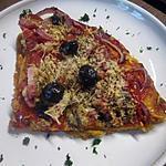 recette pizza au chorizo et lardons fumés.