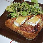 recette Tartine figue/camenbert