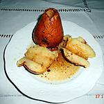 recette POIRES  beurre salé gingembre / cannelle