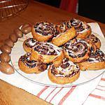 recette petits roulés aux chocolat et noix de pécan et grosses noix (aussi pour diabéthique)