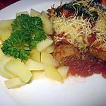 recette Boulettes de boeuf à la sauce tomates gratinées.