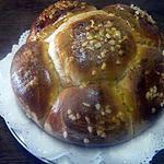 Brioche  au beurre et fruits confits.