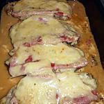 Cote de porc au jambon fromage