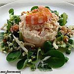 Timbale de crabe à la bisque de homard