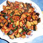 Courgettes sautées a l ail et paprika