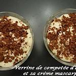 recette VERRINE DE COMPOTEE D'ANANAS ET SA CREME MASCARPONE