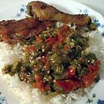 recette poulet frit sauce gombos