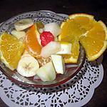 recette Salade de fruits au vin blanc.