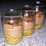 recette ~ banane poêlée et mousse pralinée ~