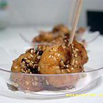 petites crevettes au miel en habit de sésames (apéro en famille)