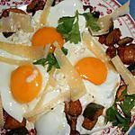 recette Oeufs au plat courgettes et parmesan
