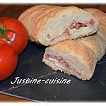 recette Baguette fourrée aux lardons
