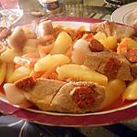 recette Rouelle de porc au chorizo et legumes