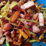 recette Poêlé lardons, pomme de terre, carotte