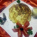 recette Omelette  au surimi et gruyère.