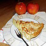 recette tarte aux pommes,amandes et rhum