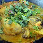 recette Poulet au curry et au lait de coco