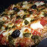 Pizza de viande hachée mozzarella