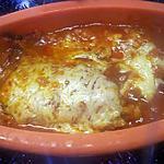 recette Filets de poisson cabillaud à la sauce tomates au micro-ondes.