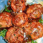 recette Crépinette de porc aux oignons et madére