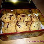 recette Cookies à l'huile de coco et pépites de chocolat