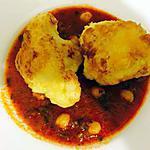 recette Beignets de choux fleur et sa sauce au poids chiche