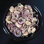 recette Salade d'haricots blancs géants, thon et oignon rouge