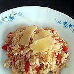 recette risotto au jambon et poivron à l'actifry