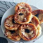 recette mini pizza au fromage