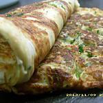 omelette soufflée au fromage blanc et courgette (diététique)