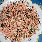 recette Salade de saumon aux baies roses