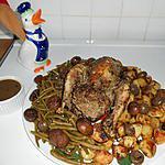 recette Faisan farci, et champignons et marrons.