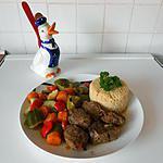 recette Joues de porc aux épices et aux légumes.