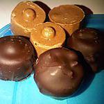 recette ROCHER PRALINE FONDANT et CHOCO BLANC / PRALINE