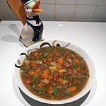 recette Potage de lentilles vertes, tout simple.
