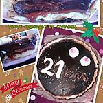 recette Tarte au chocolat et caramel coulant