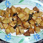 recette Pomme de terre sautées ail/citron/coriandre