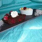 FONDANT CHOCOLAT NOIR FRAMBOISES