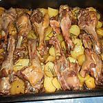 recette manchons de canard confits pommes de terre aux cepes