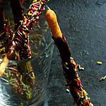 recette Mikados aux vermicelles colorées sans oeufs