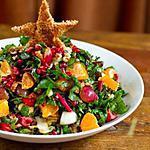recette salade radis, clementines et ses fanes