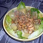 recette salade crevette fond d'artichaut