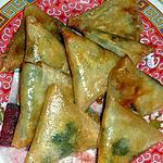 recette Samoussas épicés aux légumes