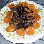 recette aiguillettes de canard  miel abricot