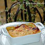 recette Gratin de jambon aux champignons de Paris