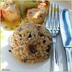 recette Risotto aux champignons et aux épinards.