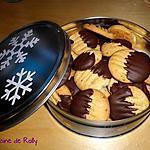 recette Sablés pralin et chocolat