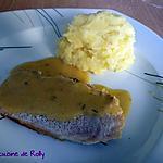recette Rôti de porc à la bière, miel et moutarde