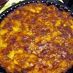recette tarte pommes ananas caramélisée et confection de gauffres de mirabelle par ma petite fille
